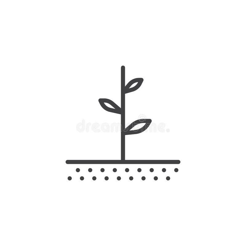 增长的植物线象 皇族释放例证