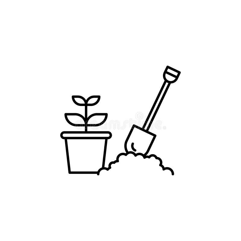 增长的种子概述象 生活方式例证象的元素 r 标志和标志汇集 库存例证