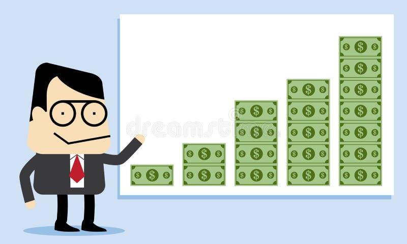 增长的金钱和赢利 皇族释放例证