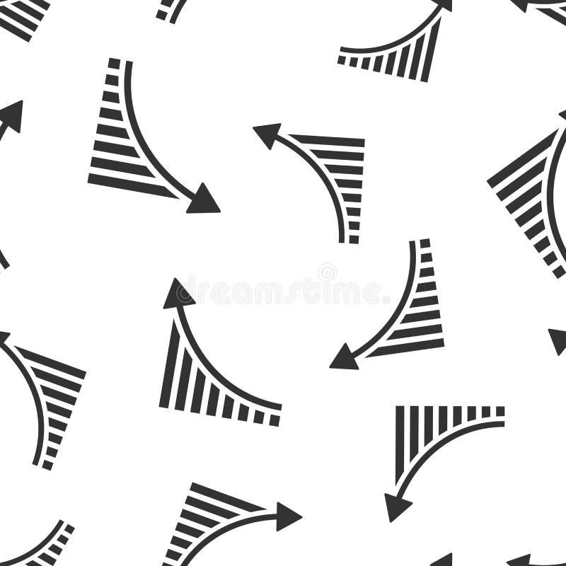增长的长条图象无缝的样式背景 增量箭头传染媒介例证 Infographic进展标志样式 库存例证