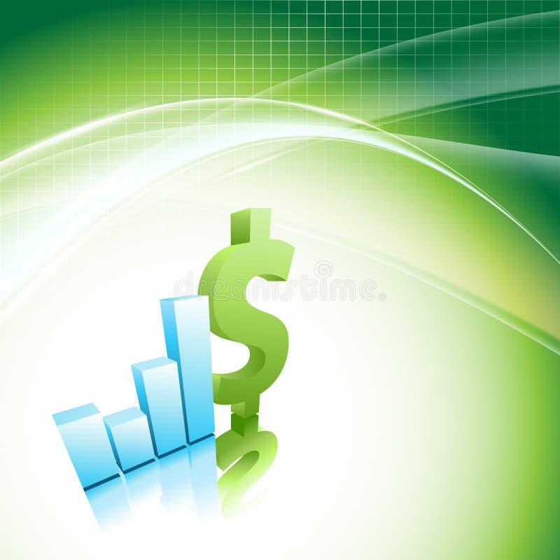 增长统计数据财务框架。 Eps10 库存例证