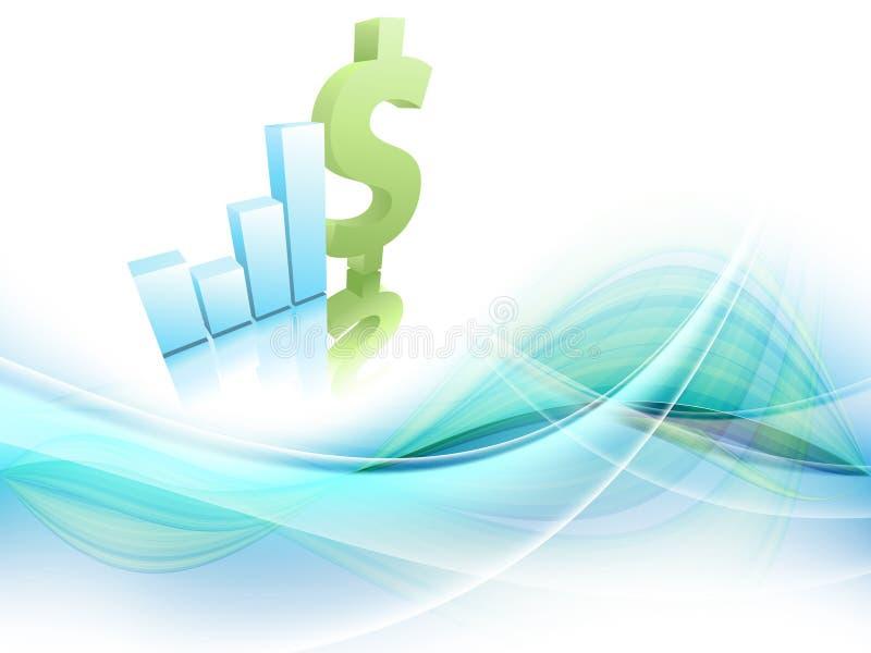 增长统计数据财务框架。 Eps10 向量例证