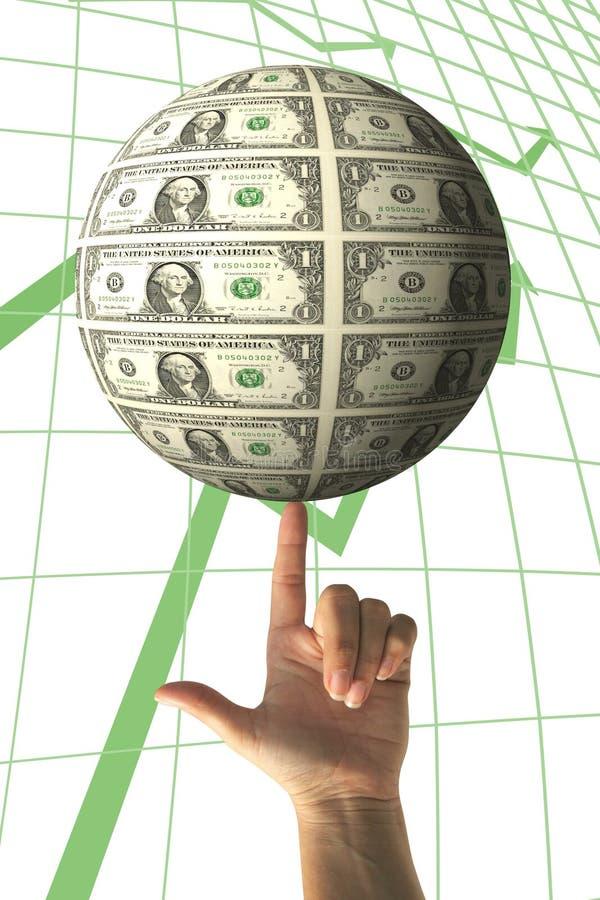 增长货币 库存照片