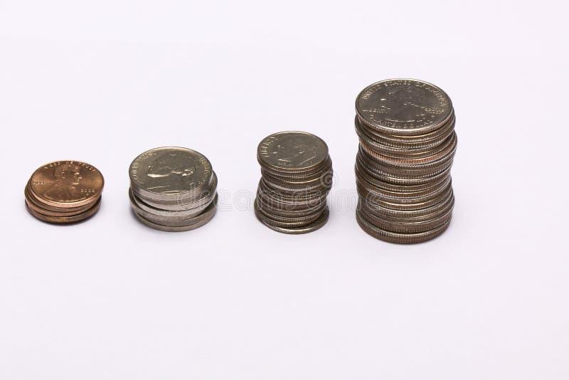 增长货币 库存图片