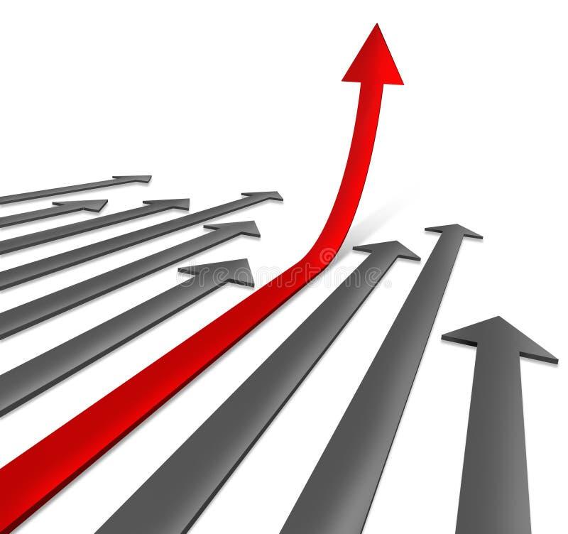 增长路径成功 库存例证