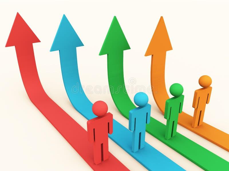 增长路径 库存例证