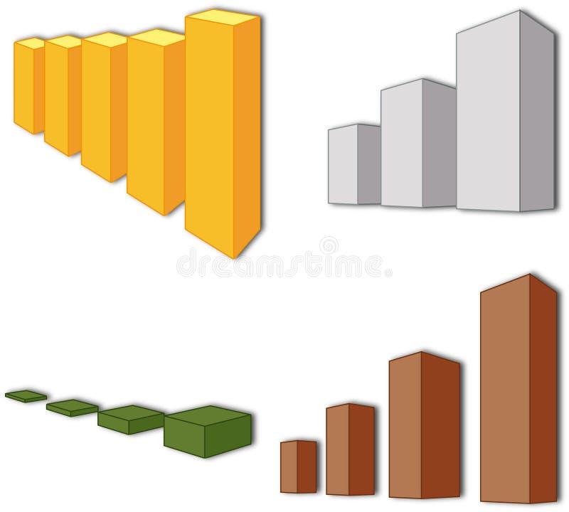 增长 增长率 统计数据 免版税图库摄影
