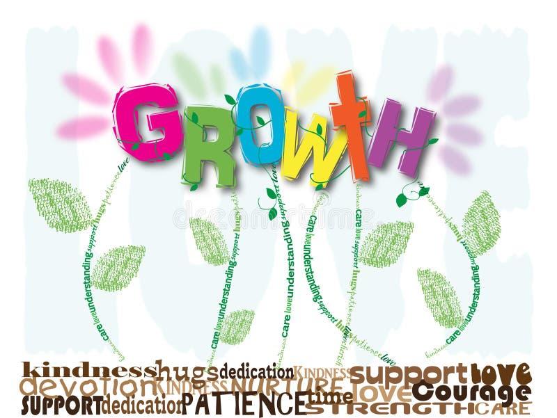 增长 库存例证