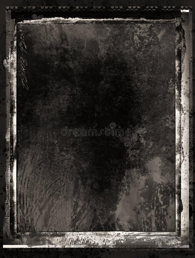 墨似胶卷画面的grunge 库存例证
