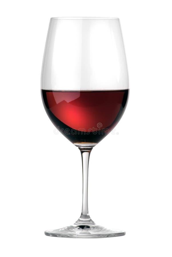 墨尔乐红葡萄酒葡萄酒杯 库存图片