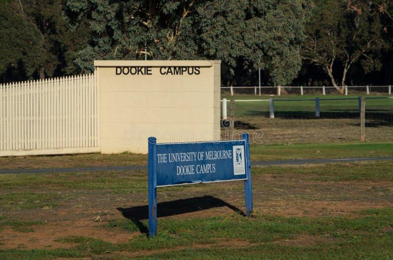 墨尔本大学的Dookie校园 库存照片