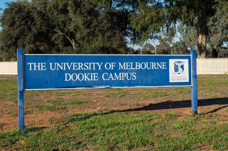 墨尔本大学的Dookie校园 库存图片