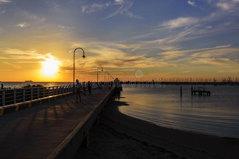 墨尔本市,圣Kilda码头 免版税库存图片