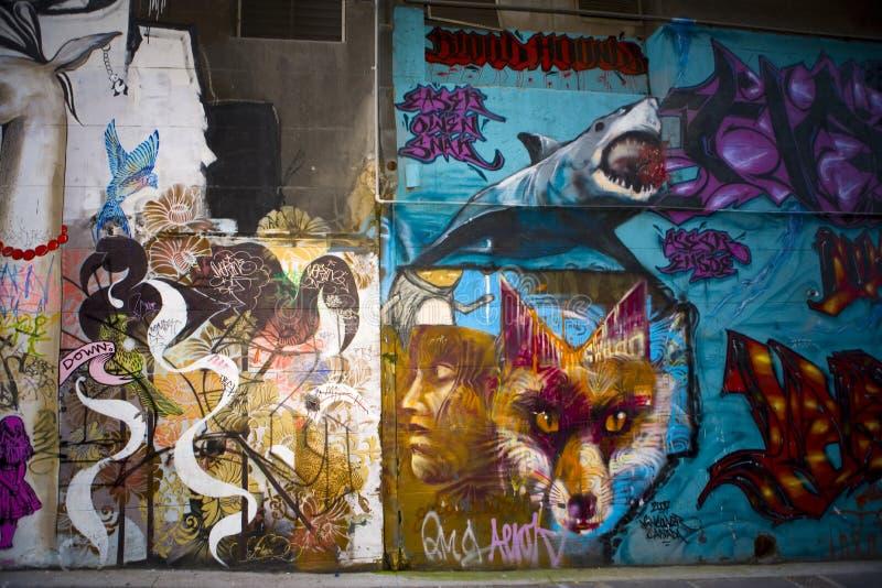 墨尔本街艺术(Grafiti) 免版税库存图片