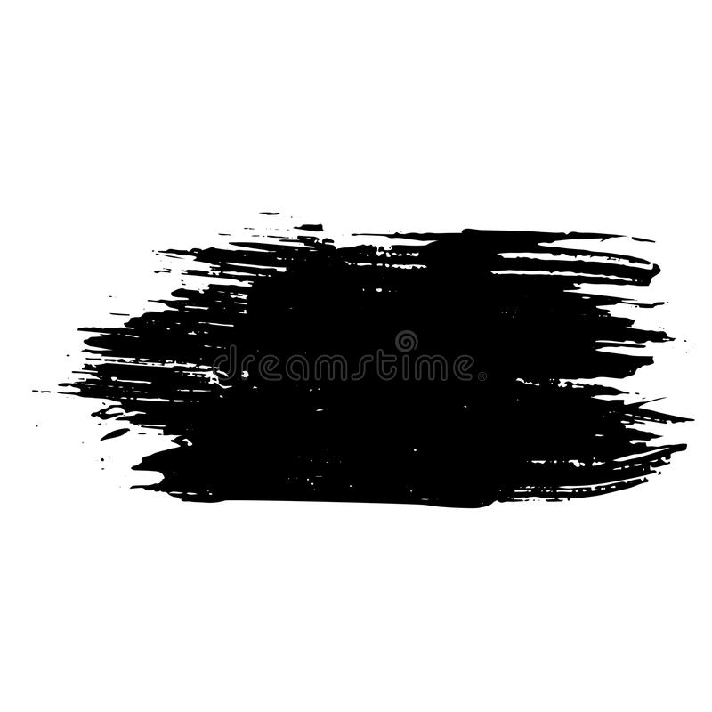 墨水传染媒介干燥刷子冲程 也corel凹道例证向量 难看的东西手拉的水彩纹理 文本的空间 向量例证