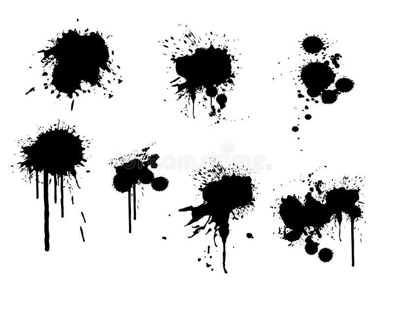 墨水泼溅物 向量例证