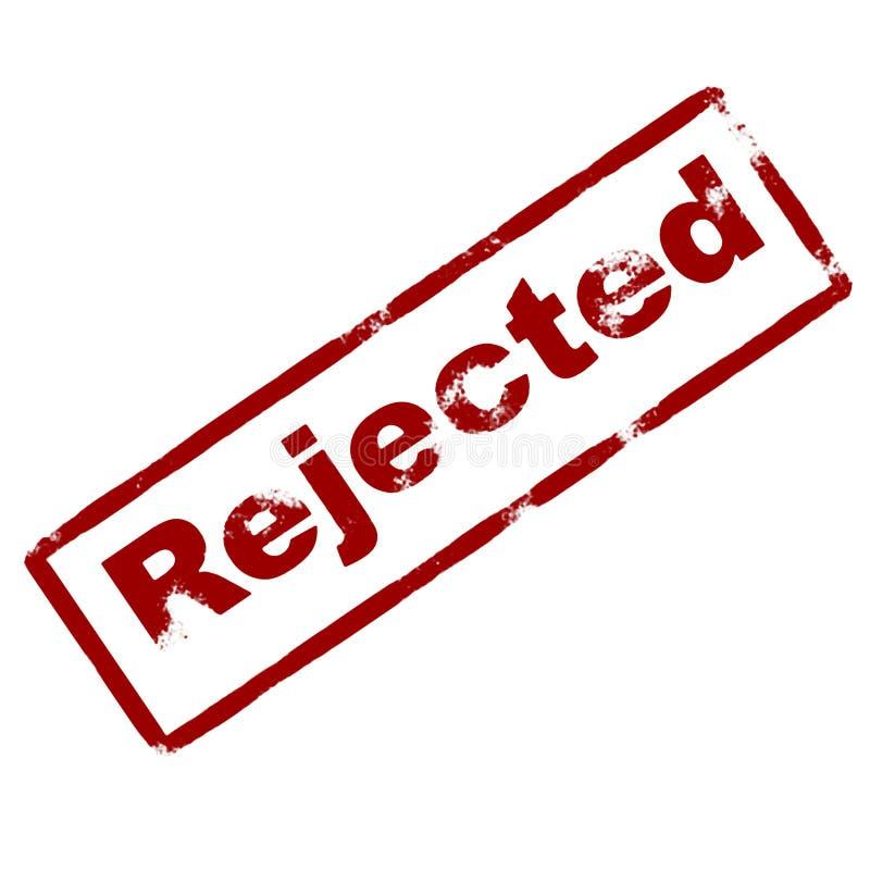 墨水被拒绝的不加考虑表赞同的人 向量例证