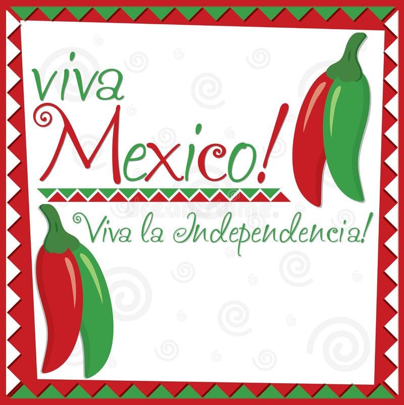 墨西哥人美国独立日! 向量例证