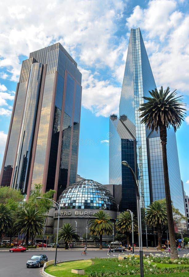 墨西哥人联交所或Bolsa Mexicana de Valores,墨西哥城 库存照片