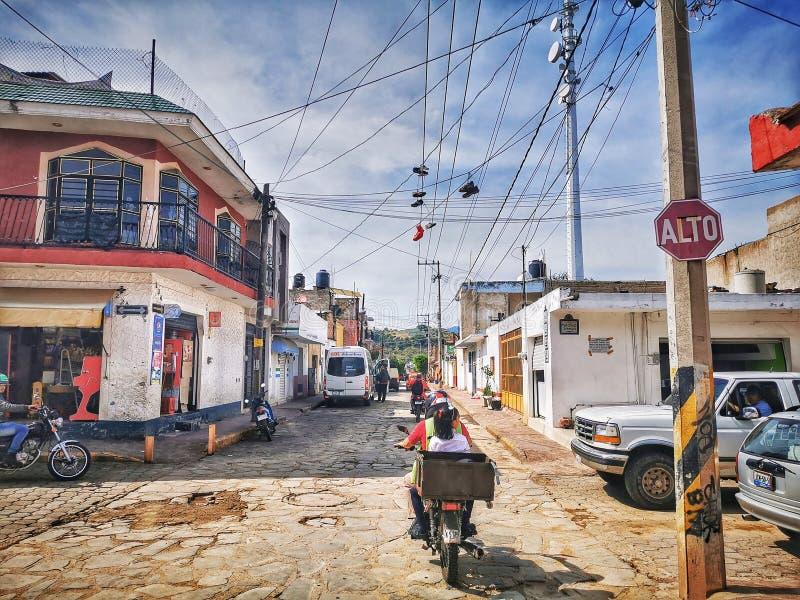 墨西哥加里斯科龙舌兰街 免版税库存图片