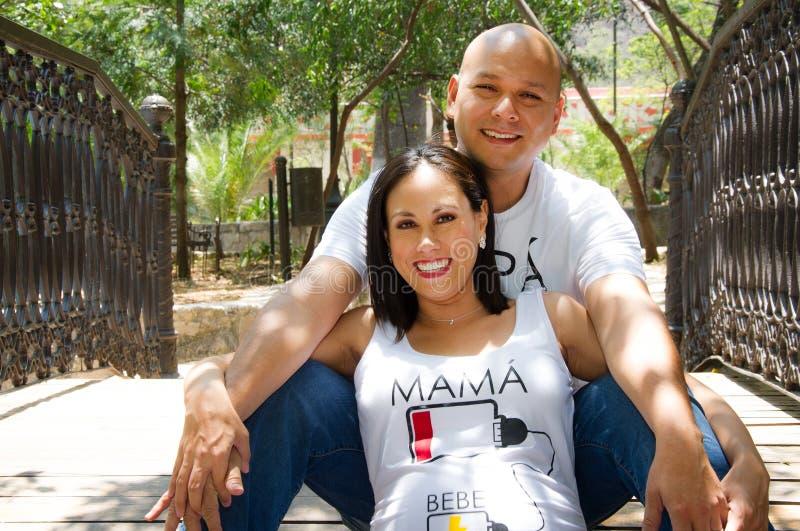 墨西哥可爱的夫妇 库存照片