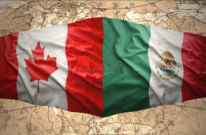 墨西哥和加拿大 库存例证