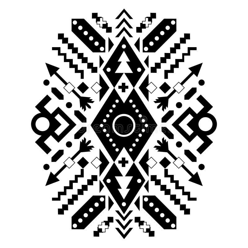 墨西哥和阿兹台克部族装饰品 向量 免版税库存图片