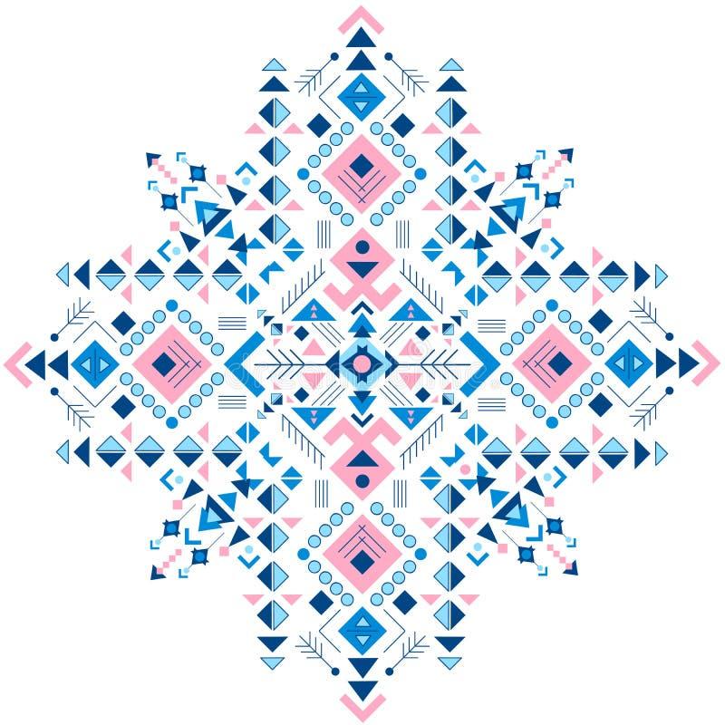 墨西哥和非洲部族装饰品 种族印刷品 库存照片