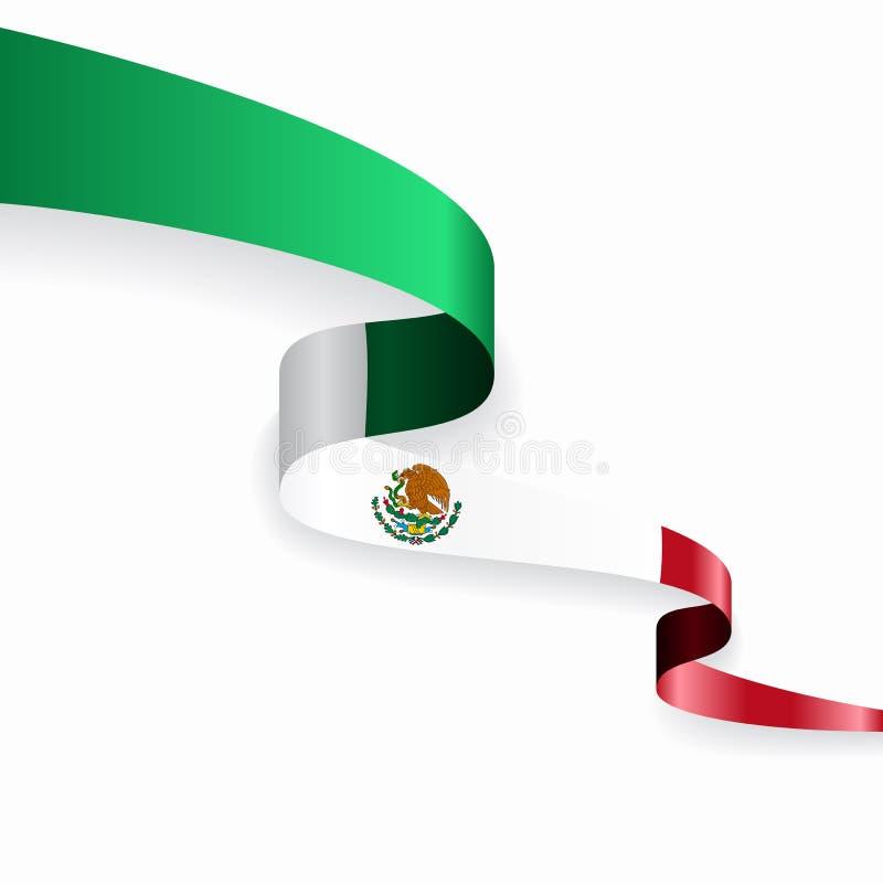 墨西哥国旗波浪抽象背景 r 库存例证