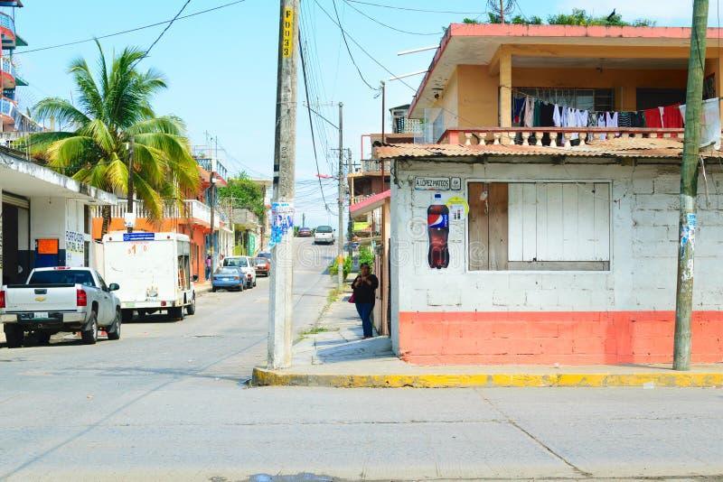 墨西哥场面街道 免版税库存照片