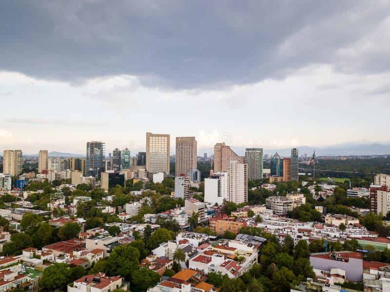 墨西哥城全景-波朗科Reforma 库存照片