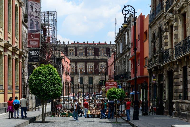墨西哥城历史建筑 库存照片