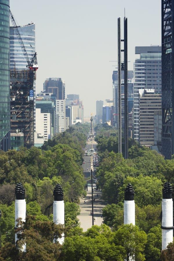 墨西哥城在建筑 库存照片