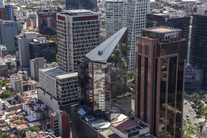 墨西哥城大厦鸟瞰图  免版税库存图片