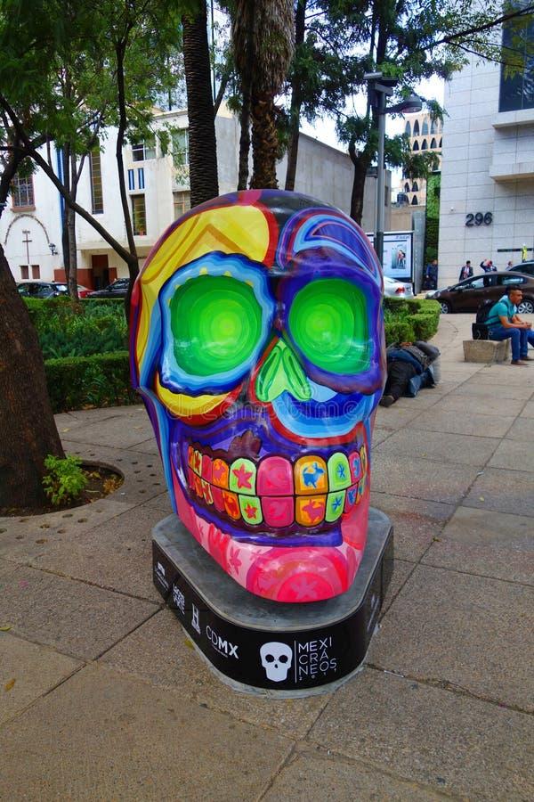 墨西哥城,墨西哥-死的Spanish Dia de Muertos的天是在墨西哥和团结的Sta始终庆祝的一个多天假日 库存图片