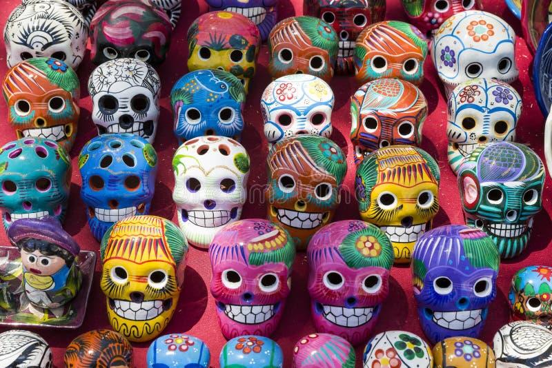 墨西哥头骨 库存图片