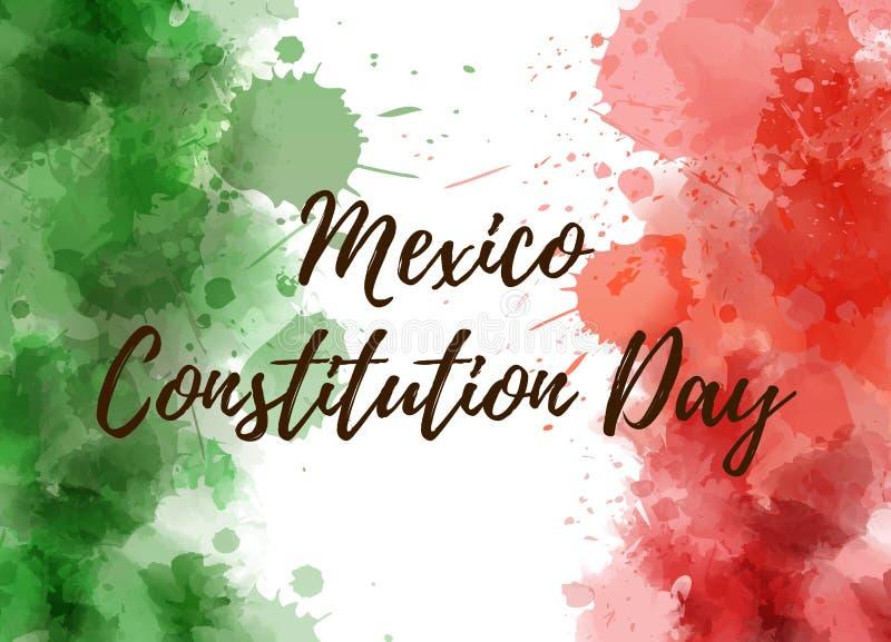 墨西哥宪法天 向量例证