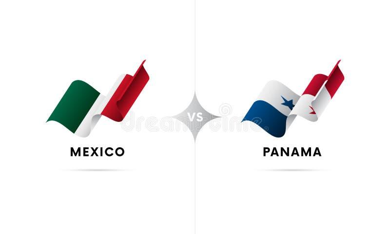 墨西哥对巴拿马 橄榄球 也corel凹道例证向量 库存例证
