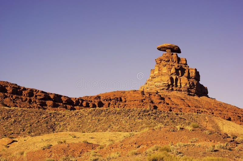 墨西哥帽岩层在犹他 库存照片