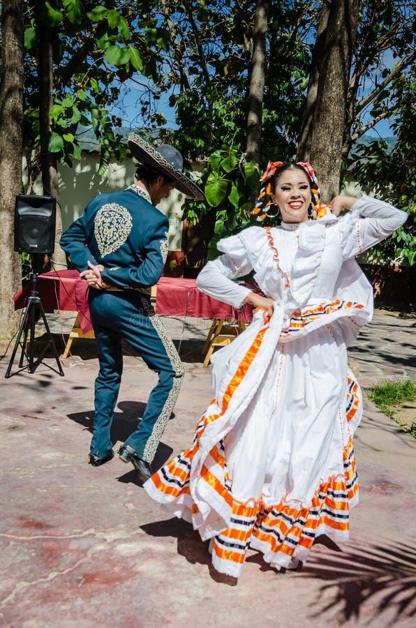 墨西哥帽舞蹈-巴亚尔塔港,墨西哥 库存图片