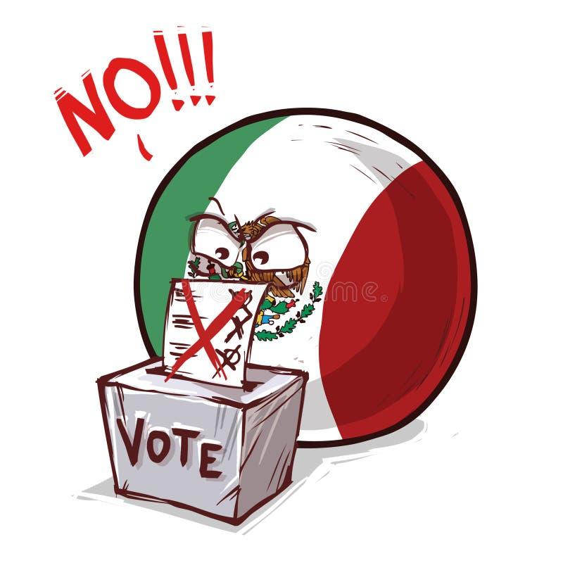 墨西哥投反对票国家的球 皇族释放例证