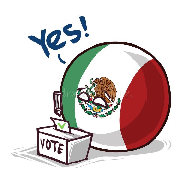 墨西哥投赞成票国家的球 皇族释放例证