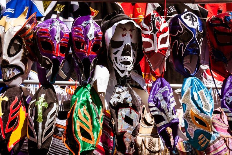 墨西哥搏斗的面具 免版税库存照片