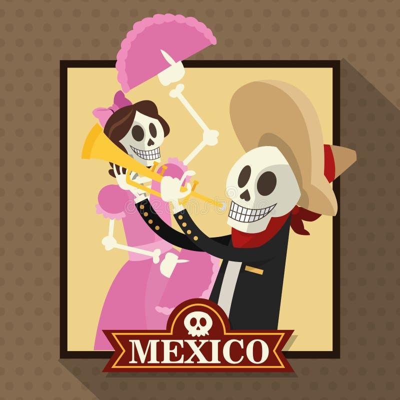 墨西哥文化设计 库存例证