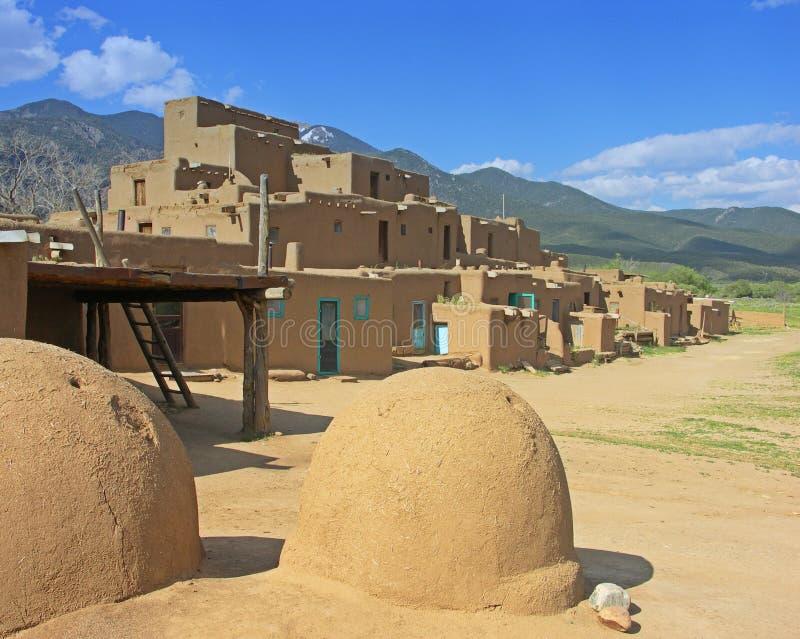 墨西哥新的镇taos 免版税库存照片