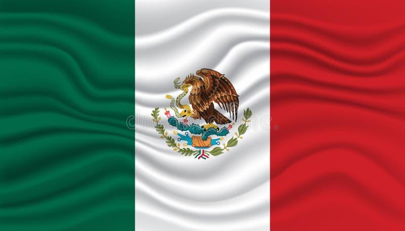 墨西哥旗子 库存例证