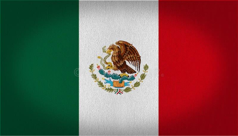 墨西哥旗子 向量例证