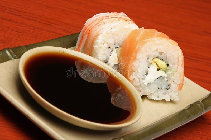 墨西哥样式寿司 免版税库存图片