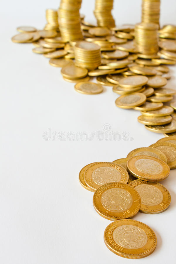 墨西哥比索货币 免版税库存照片