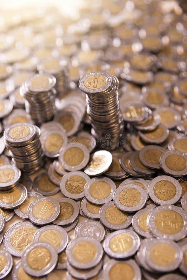 墨西哥比索硬币 免版税图库摄影
